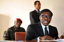 Teodoro Nguema Obiang Mangue at a table