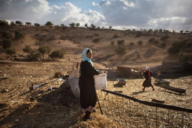 A woman working in a field