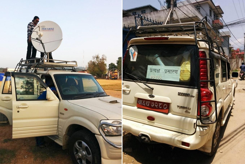 Radio van in nepal