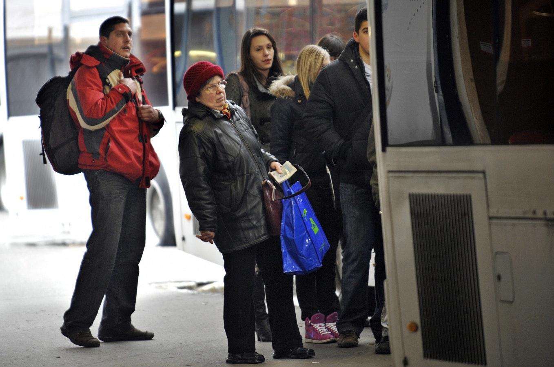 Utasok várnak a felszállásra