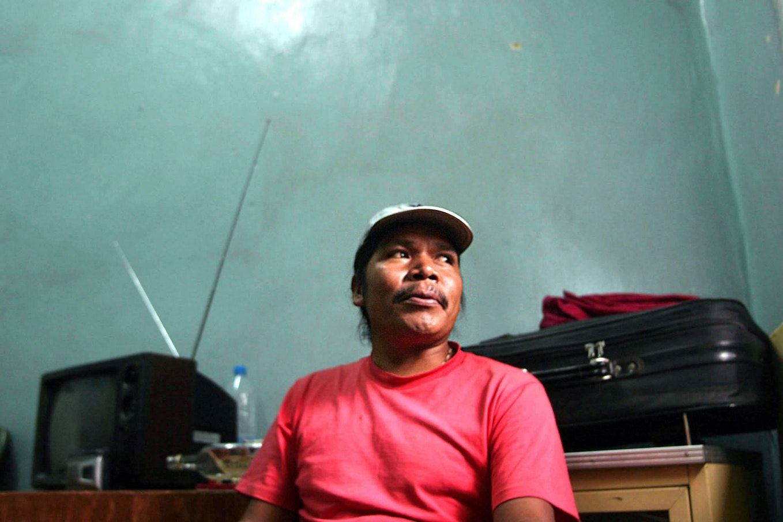 Isidro Baldenegro sitting in a room