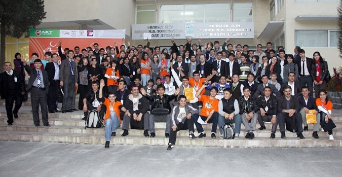 Large group of Digital Youth participants posing for photo