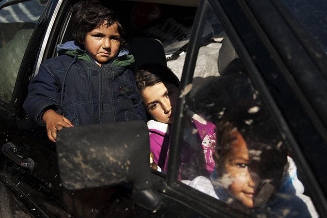 Girls in a car.