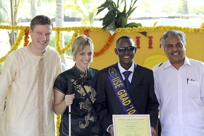Graduation ceremony. Kerala, South India.