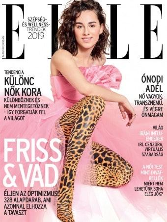 Adél Ónodi on the cover of Elle Hungary