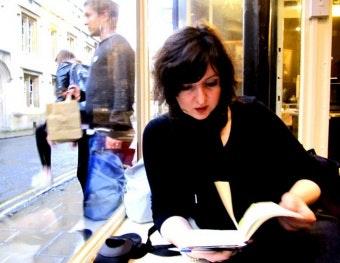 Danica Radovanovic reads a book