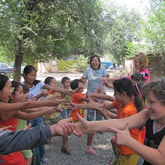 Children playing Osh, Kyrgyzstan