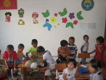 Children playing at Aikol Children's Development Center