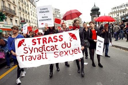 Demonstators in Paris