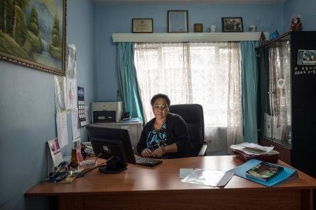 Dr. Zipporah Ali at her desk