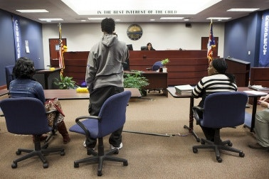 Juvenile offender in Ohio courtroom