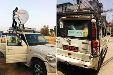 Radio van in nepal