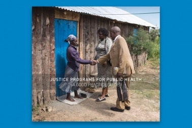 Cover of Justice Programs for Public Health: A Good Practice Guide