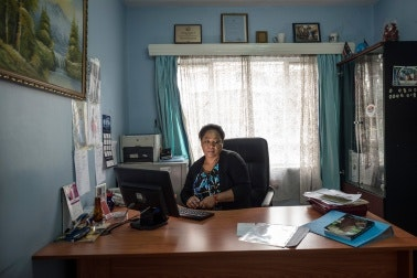 Dr. Zipporah Ali at her desk