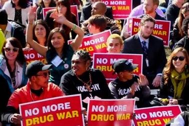 Drug policy reform demonstrators
