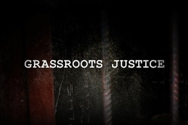 Grassroots Justice video titlecard