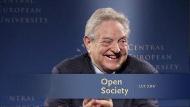 George Soros laughing