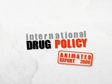 Title card that reads: International Drug Policy