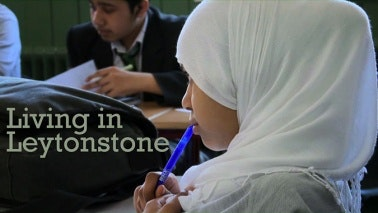 Title card that reads: Living in Leytonstone