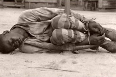 A prisoner on the ground