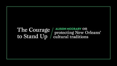 Title card that reads: The Courage to Stand Up