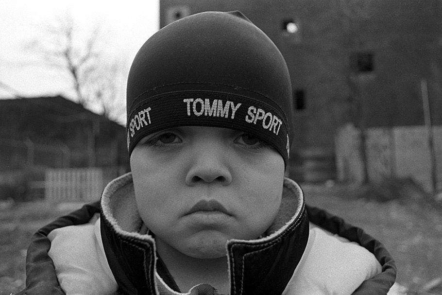 Portrait of a boy in a hat.