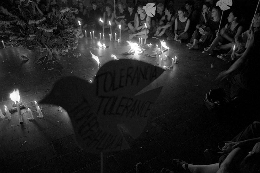 A candlelight vigil.