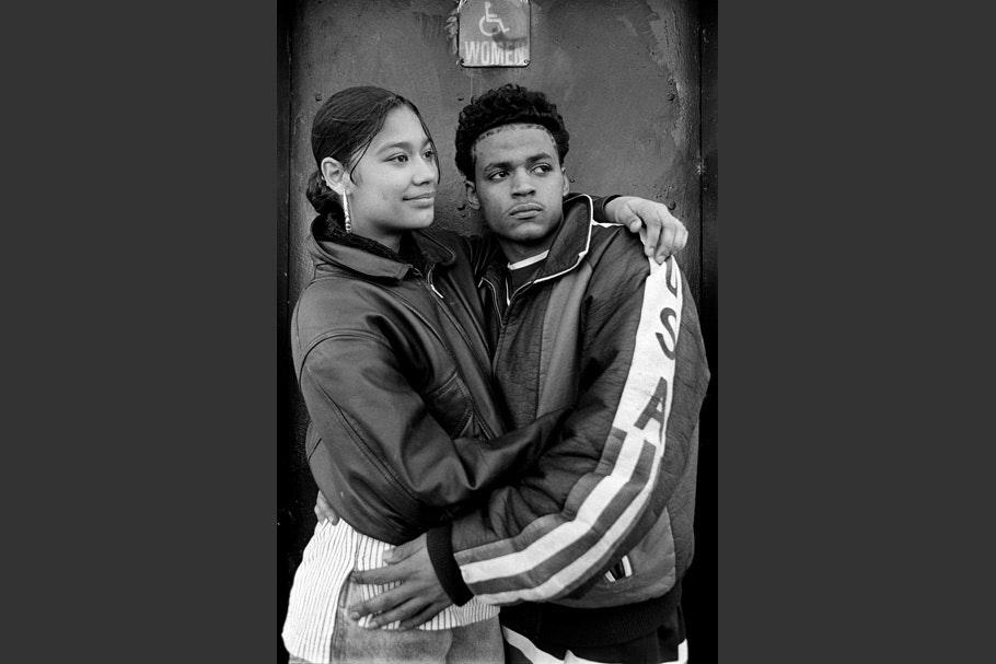 A portrait of a couple.