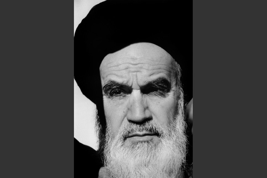 Portrait of the Ayatollah.
