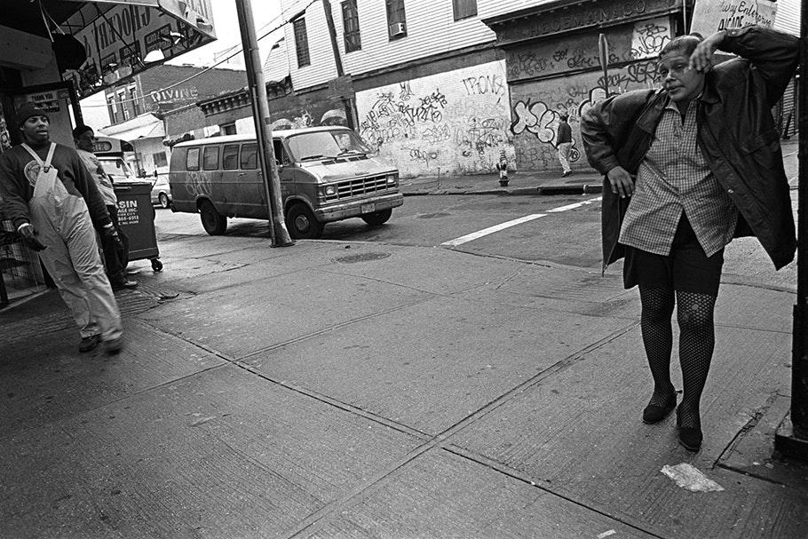 A street scene.
