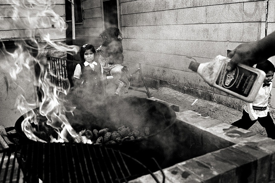 Close up of a barbeque.