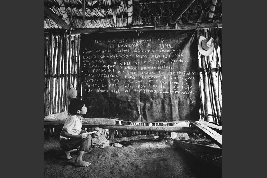 A child in a classroom.