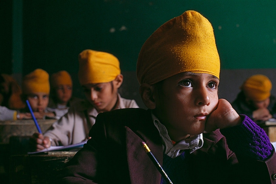 Boys in a classroom.