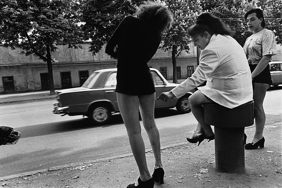 Three women in heels.