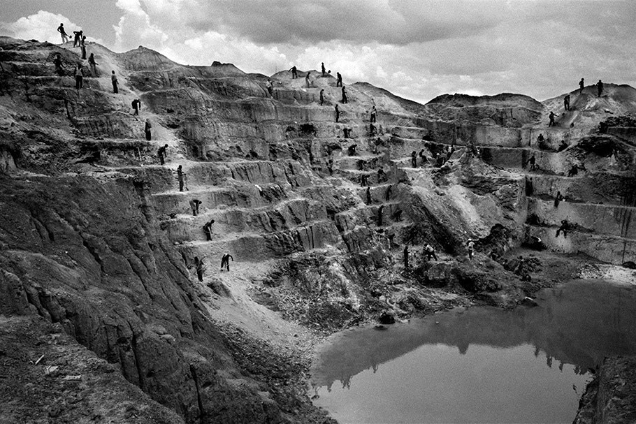 A wide view of a mine.