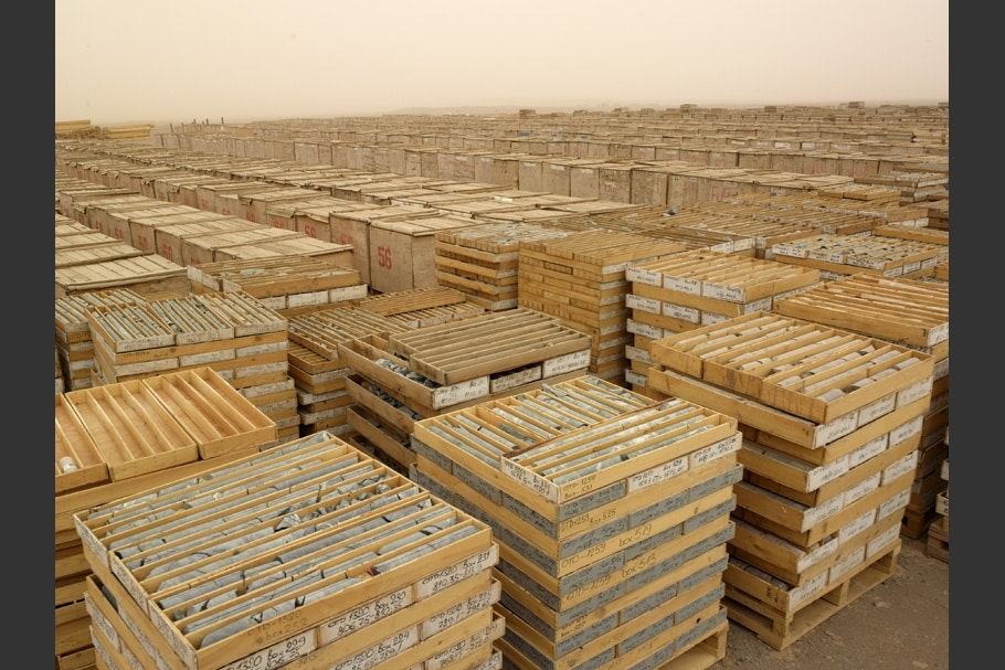 A view of many wooden crates.