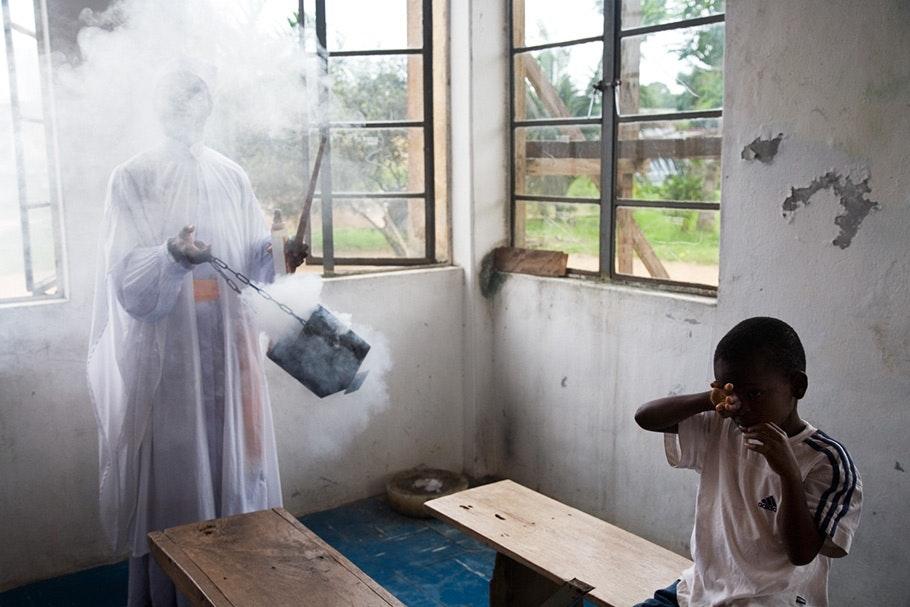 Incense in church.