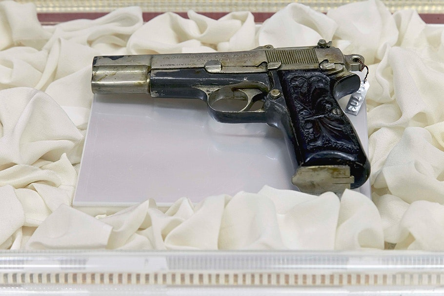 Gun in display.