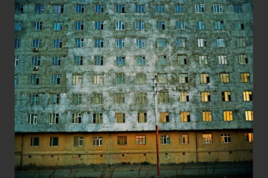 Wall full of windows.
