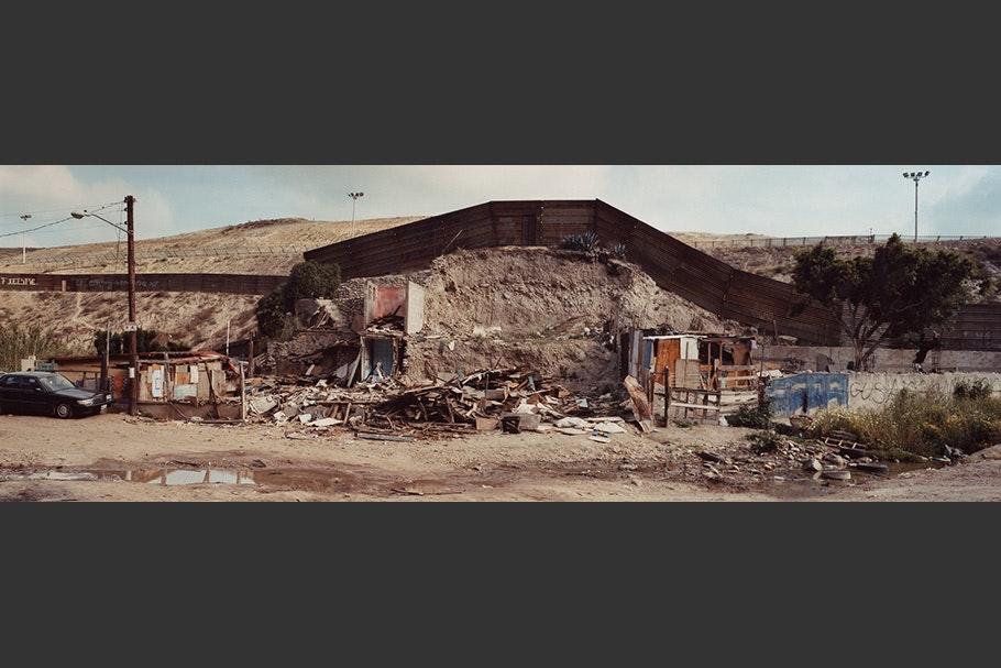 Destroyed shacks.