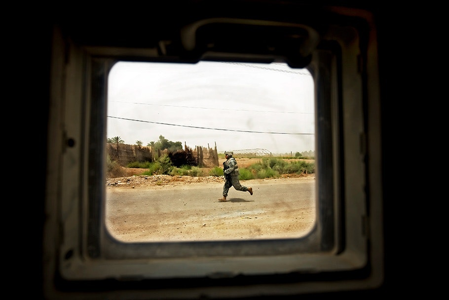 Soldier running.