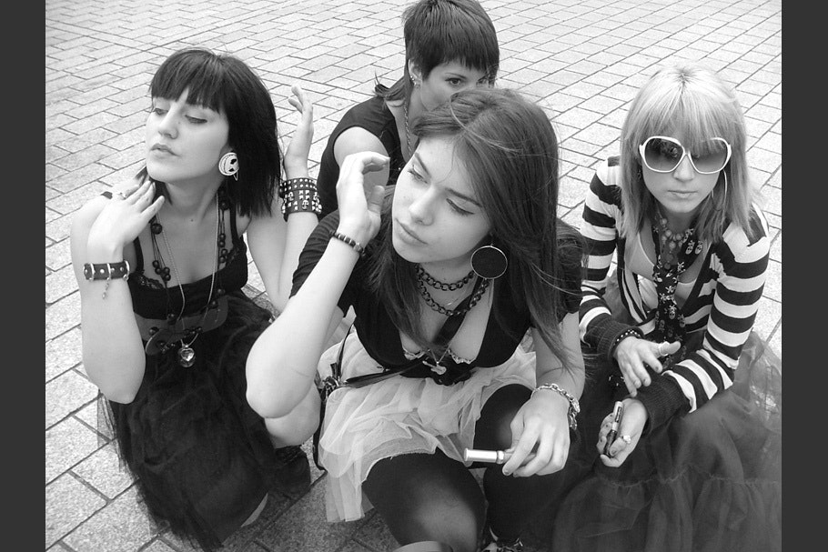 Group of teenage girls.