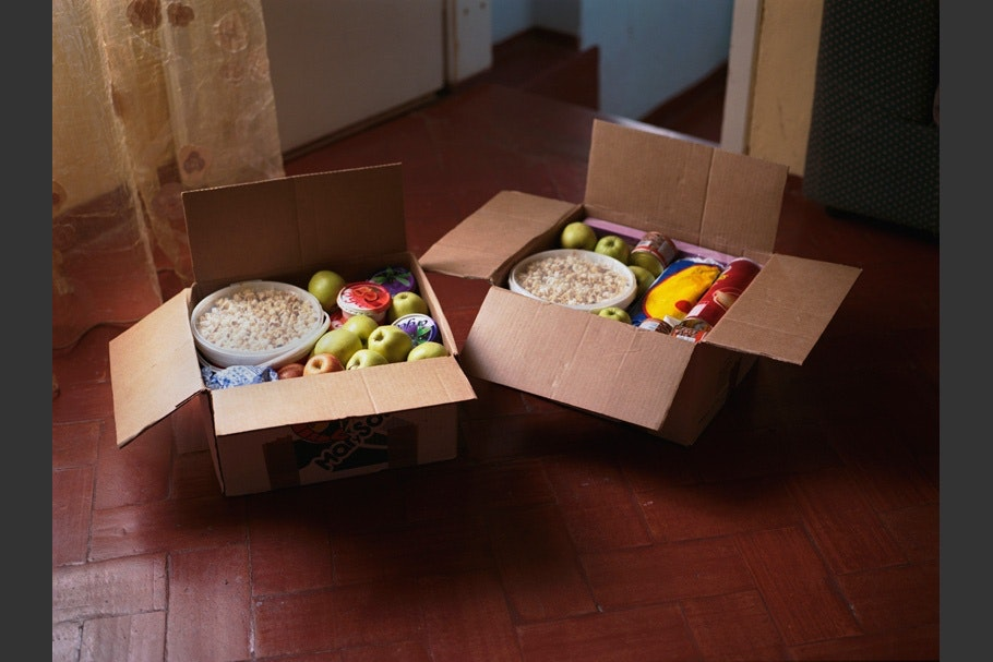 Packages of food.