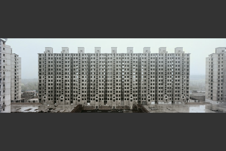 A series of apartment buildings.