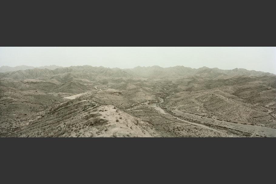 A desert landscape.