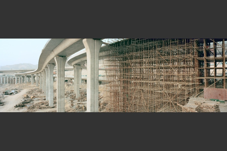 Highway construction.