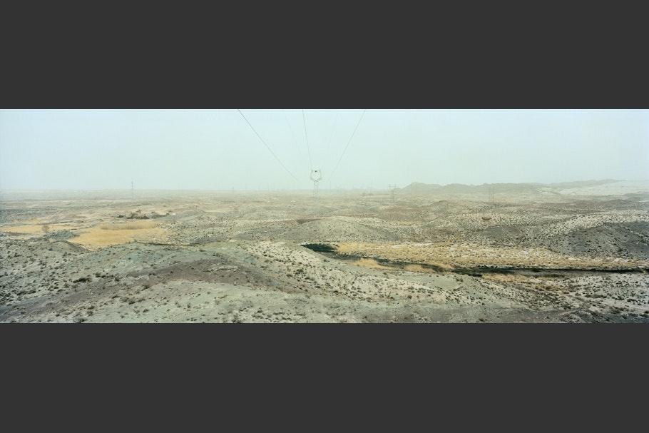 A desert landscape in China.