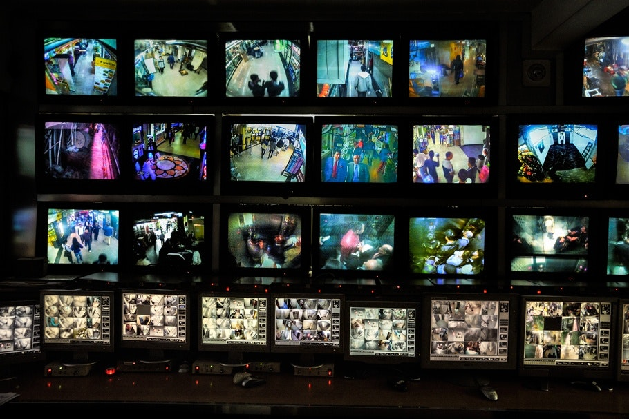 Security camera monitors