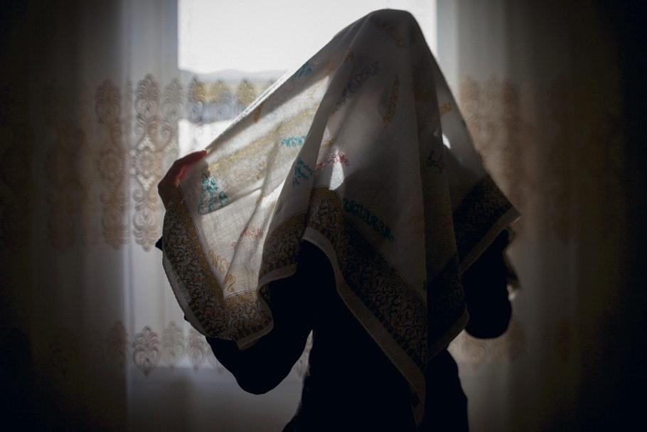 Muslim girls in bed