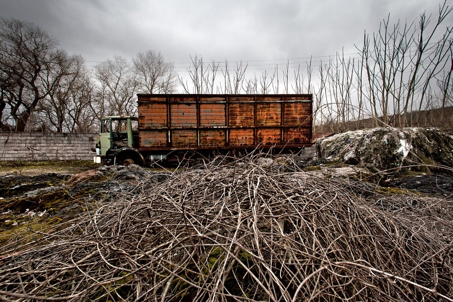Rusted, abandoned truck.
